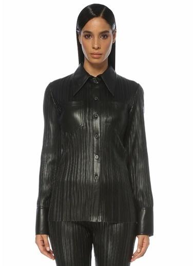 Nanushka Nanushka  Pili Detaylı Gömlek 101557471 Siyah